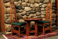 ensemble, bodmer occasional table and ladderback chair