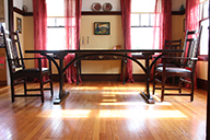 braced arch dining table
